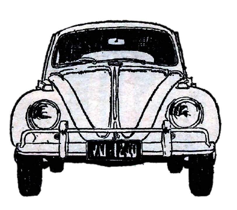 Free Illustration Vintage Car Watercolor Beetle Free Image