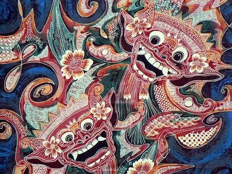 Indonesia, Bali, Batik, Kain, Pencetakan