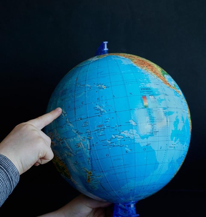 Globus Karta Finger Gratis Foto Pa Pixabay