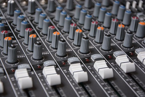 Misturador, Digital, Analógico, Áudio