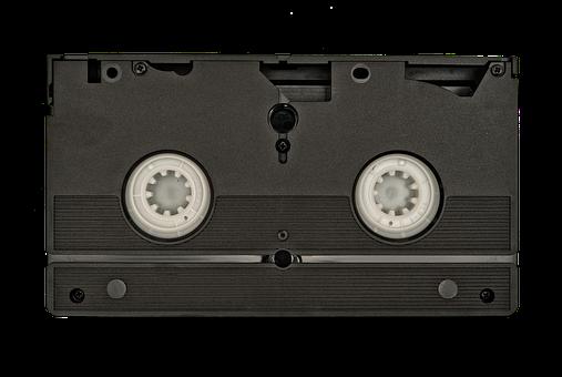 Vhs, Tape, Back, Old, Information, White
