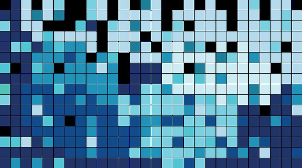 blue tile mosaic modern