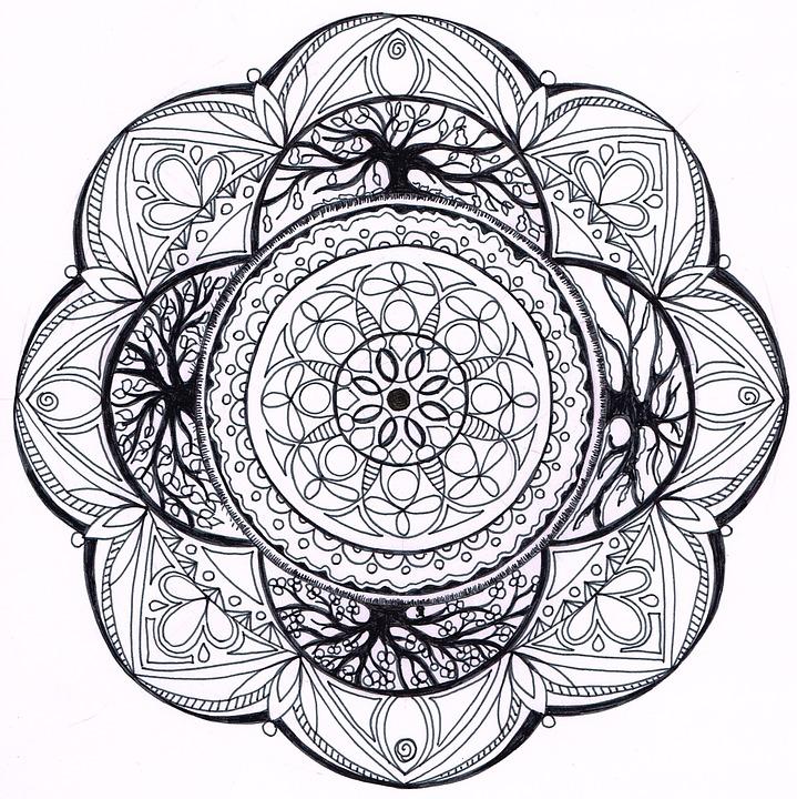 Mandala Kleurplaten Seizoenen.Mandala Zentangle 4 Seizoenen Gratis Afbeelding Op Pixabay