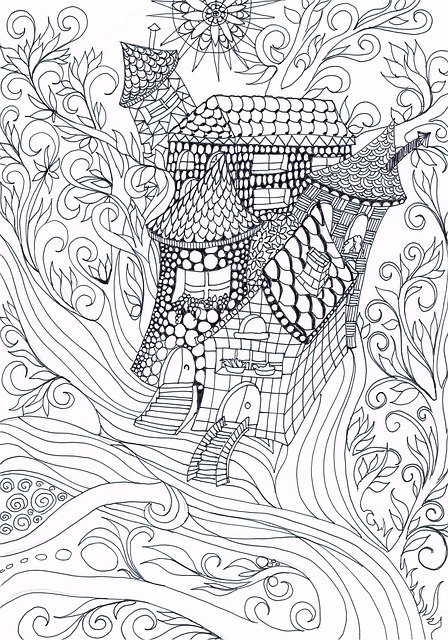 Free Illustration Zentangle Treehouse Drawing Free