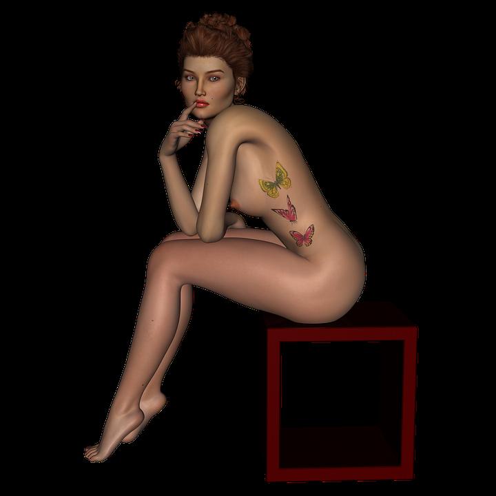Kuvia seksikäs alaston naiset