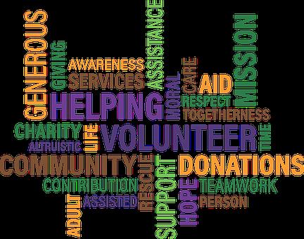 Volunteer charity cloud community fun