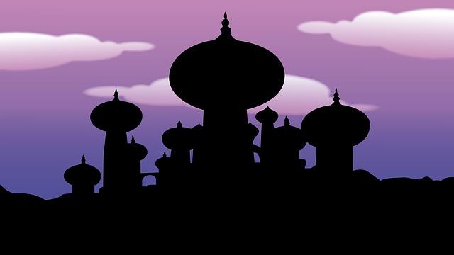 aladdin arabische nacht tempel kostenloses bild auf pixabay. Black Bedroom Furniture Sets. Home Design Ideas