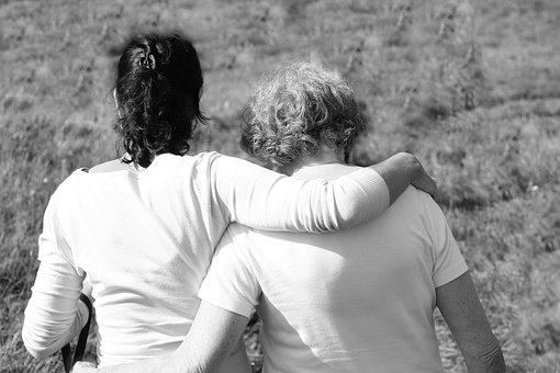 母, 娘, 一緒に, 損失, 喜び, 受け入れます, 愛, 理解, Luis に