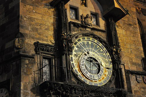Prague, Horloge, Tour, Astronomique