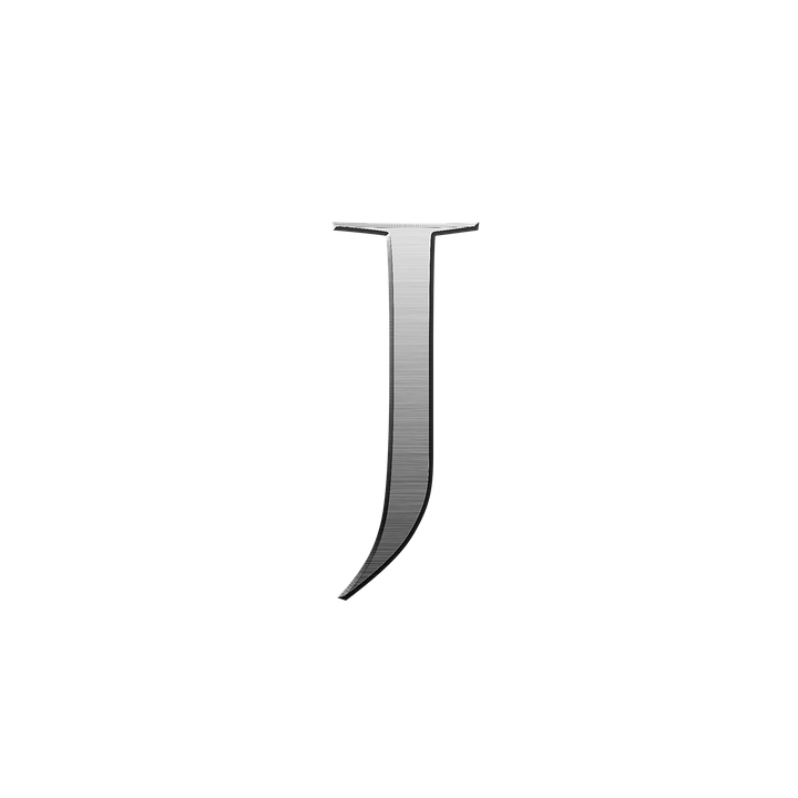 Letter J Metal Steel Alphabet Font Letter Text J