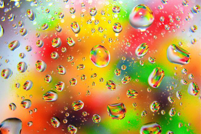 Color Colorful Raindrops · Free Photo On Pixabay