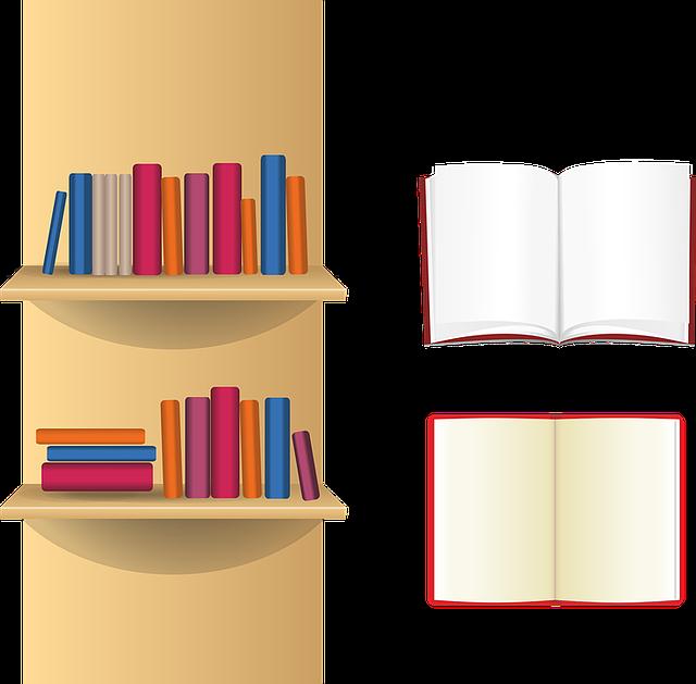 Book Shelf Books Free Vector Graphic On Pixabay