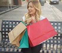 Woman, Happy, Shopping, Shopping Bags