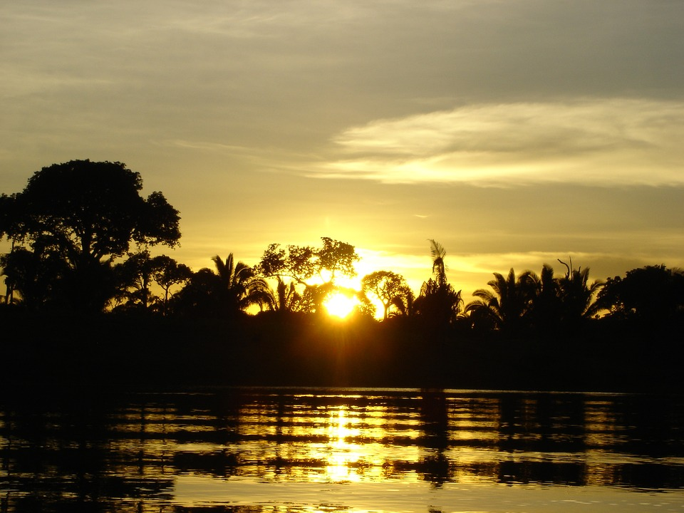 Amazon, Sunset, River, Brazil, Sky, Landscape, Jungle