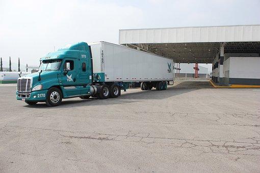 Vehicle, Truck, Tir, Petrol Station