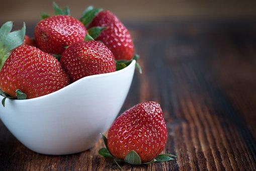 イチゴ, フルーツ, ボウル, 食品, ベリー, 赤い果実, 天然物, 有機