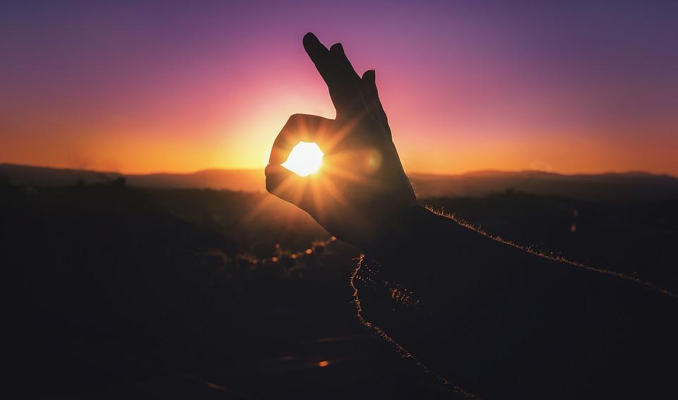 日没, 日, 夏, 空, 美容, 青い空, 晴れた日, 自然, 背景画像, 色, ムーン, 風景