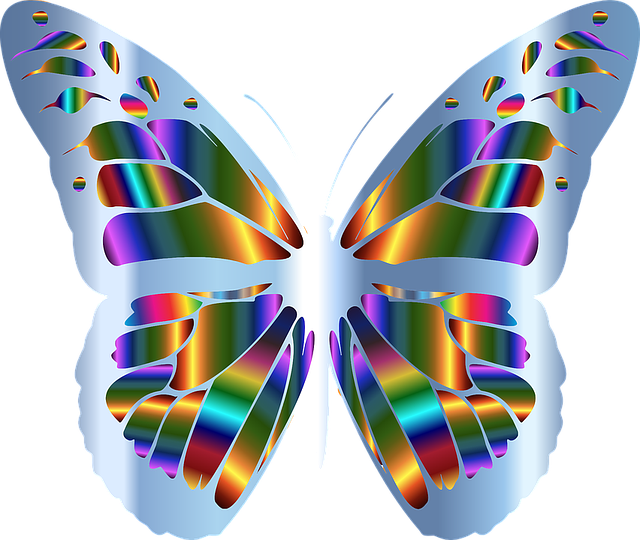Free vector graphic abstract animal art butterfly - Imagenes de colores calidos ...