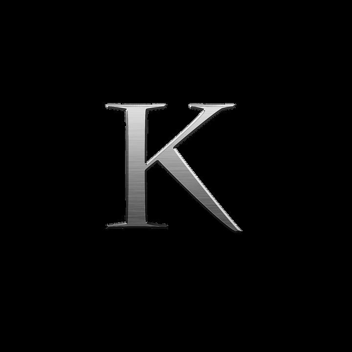 Alphabet Letter K Metal