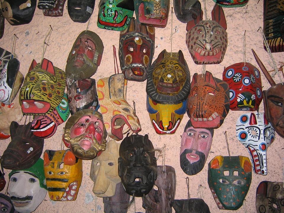 Maski, Gwatemala, Rzemieślnik, Kultura, Drewno, Rynek