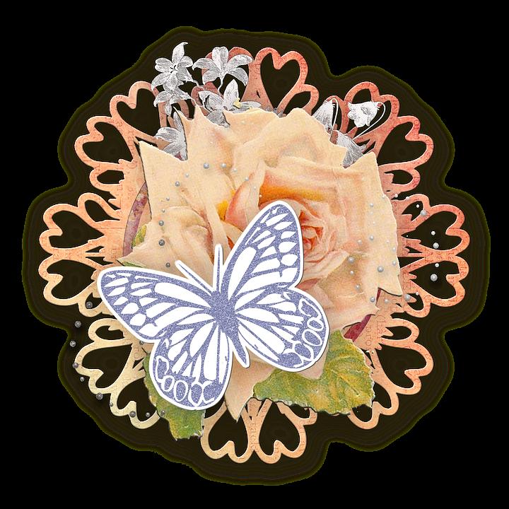 Scrapbooking Cluster Coeur · Image Gratuite Sur Pixabay