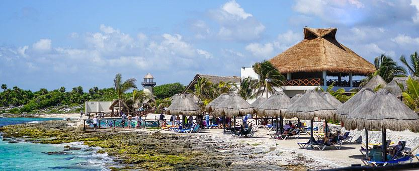 Cozumel, Mexico, Beach, Tropical, Huts