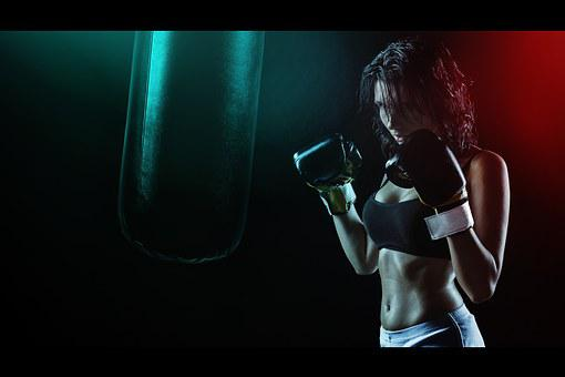 Girl, Boxer, Ring, Boxing Pear