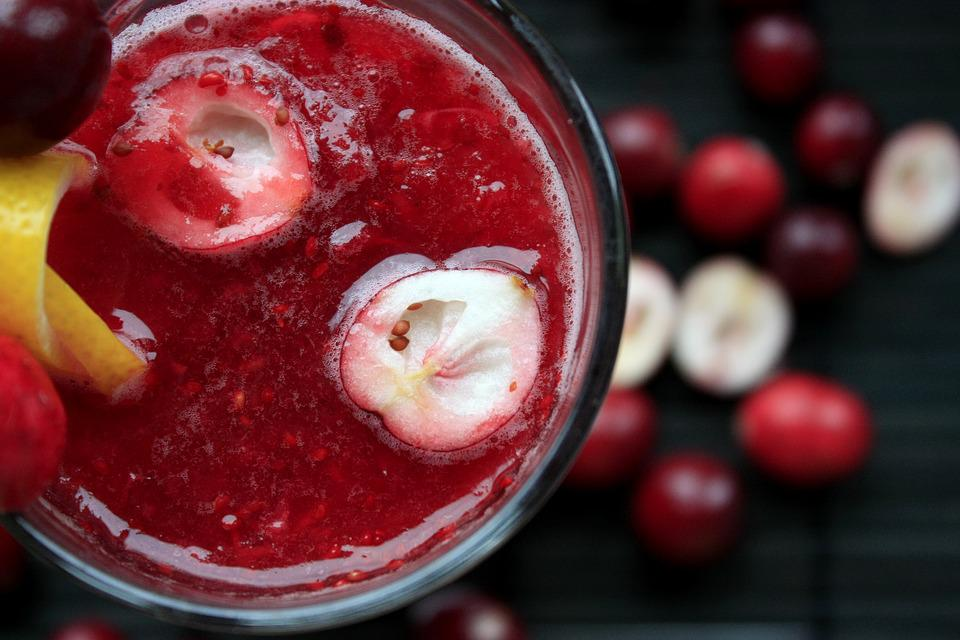 Cranberries, Cocktail, Berry, Fruit, Drink, Organic