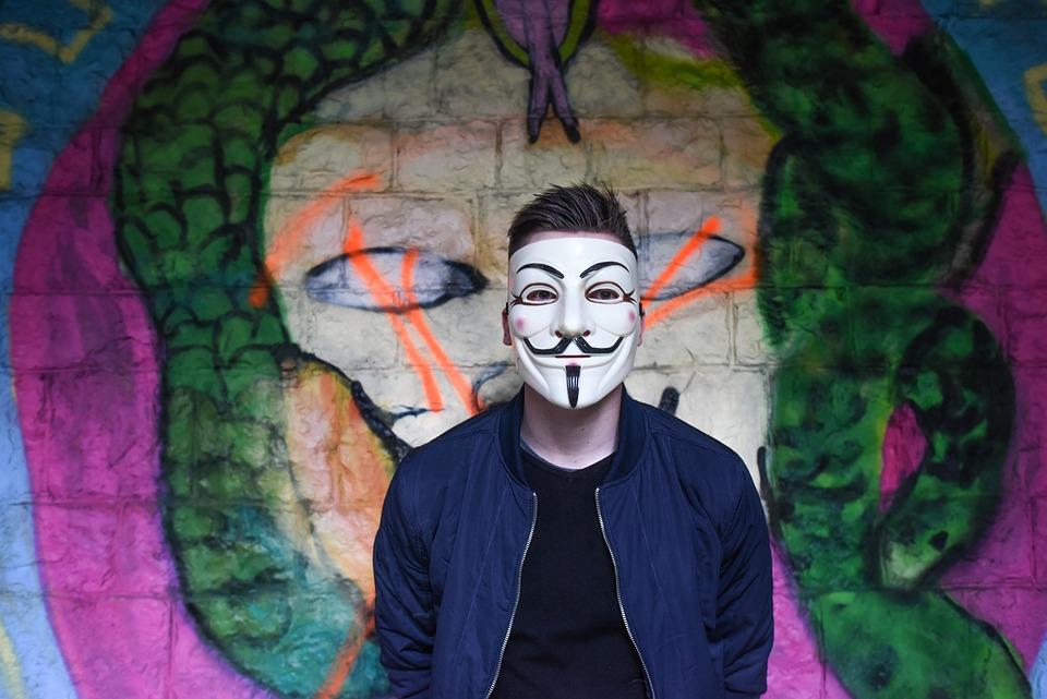 Anonymous Graffiti Mask Boy Man Teen Tough