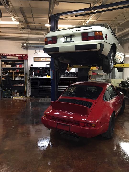 Porsche Car Shop Garage Cool Free Photo On Pixabay - Carshop