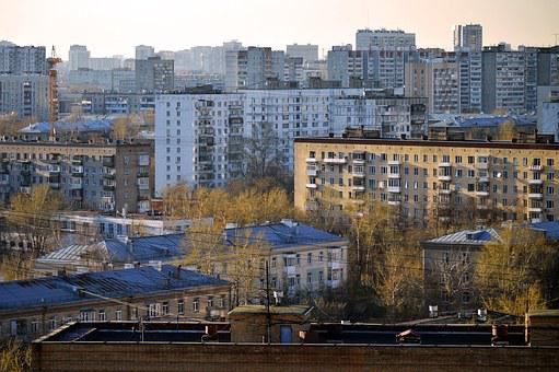 Moscow, Russia, Rooftops, Soviet