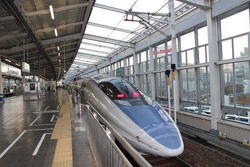 新幹線, 500系, Jr西日本, 鉄道, 日本, 駅, 速度, 列車