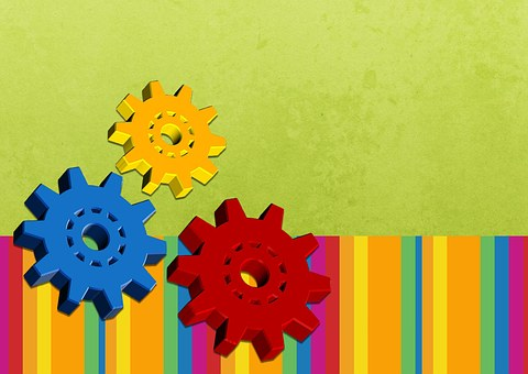 Background Colorful Engineering Gears Post