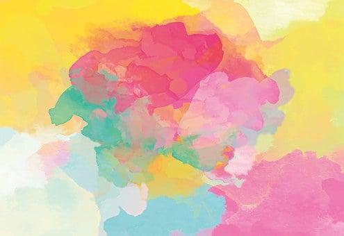 水彩画, グラデーション, 絵画技法, 水に可溶, 不透明ではありません, 色
