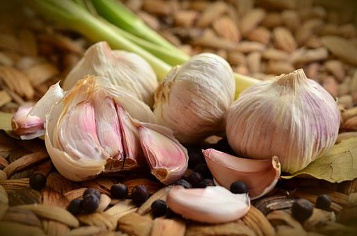 Garlic, Tubers, Spice, Food, Herb, Smell