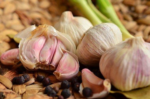 ニンニク, 塊茎, 食品, スパイス, ハーブ, 芳香族, 健康, 調理する
