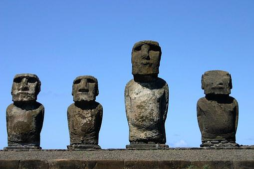 Easter Island, Rapa Nui, Mohais, Chile