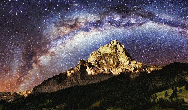 Free Photo Night Sky Galaxy Milky Way Free Image On