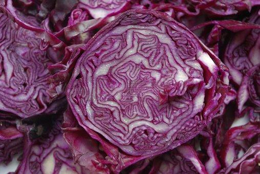 Red Cabbage, Vegetables, Kohl, Violet