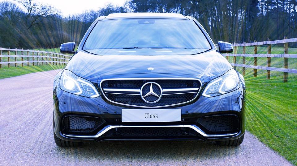 Mercedes, Carro, Transporte, De Luxo, Automático, Motor