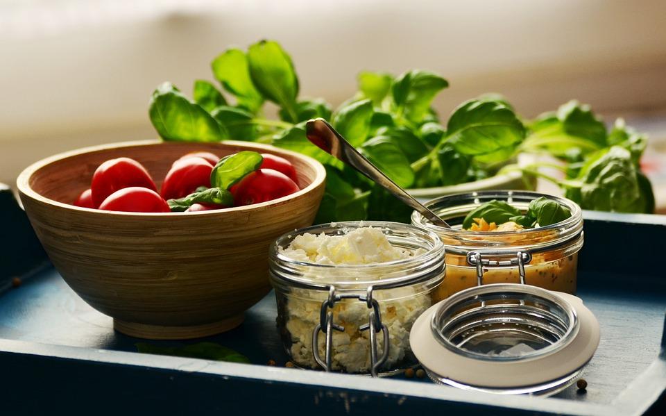 Tomatoes, Feta Cheese, Basil, Mediterranean, Fresh