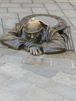 Cumyle, Statue, Homme, Bratislava