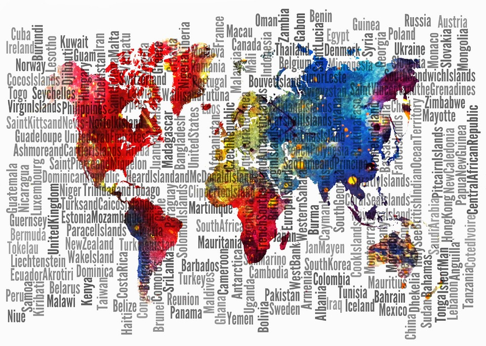 Map of the world parts free image on pixabay map of the world world parts watercolor countries gumiabroncs Gallery