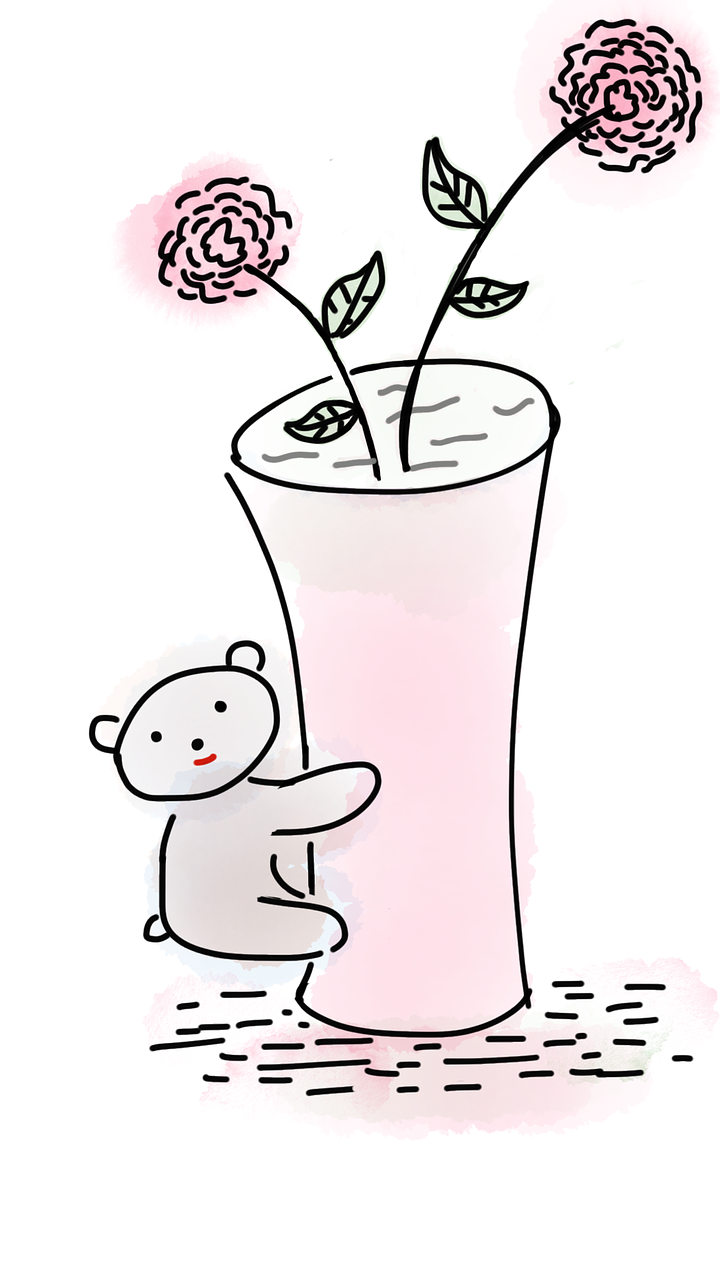 Teddy Bear Vase Flower Free Image On Pixabay