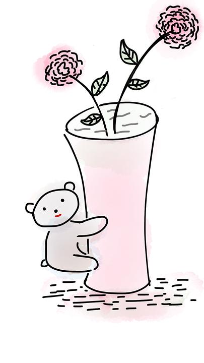 Urs De Pluş Vază Vaza Flori Imagine Gratuită Pe Pixabay