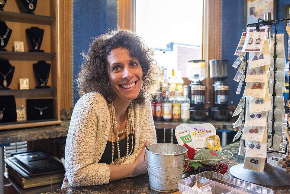 Free Photo Smiling Woman, Coffee Shop, Cafe - Free Image -7554