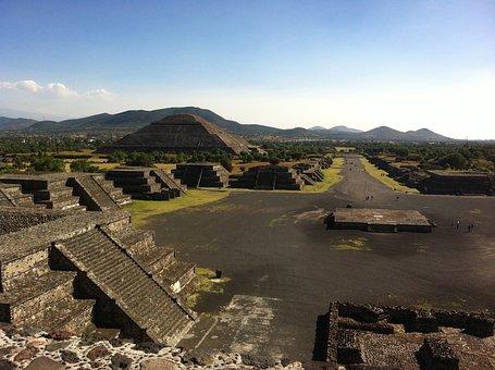 Teotihuacán, México, Azteca, Píramides