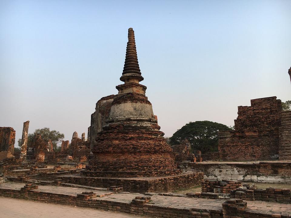 泰国, 名胜古迹, 建设, 旅行, 值得一看, ayyutthaya, 历史, 老, 废墟