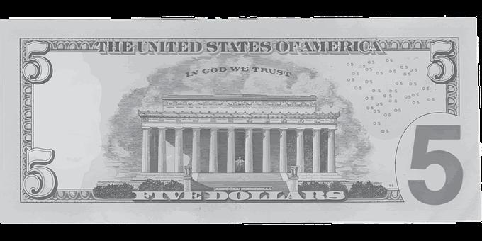 Dollar, Five, Abraham, Lincoln