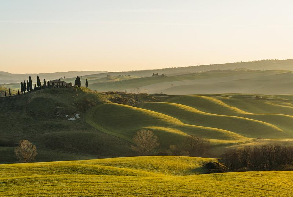 Tuscany, Soleil, Collines, Vert, Paysage - Twelve Magazine